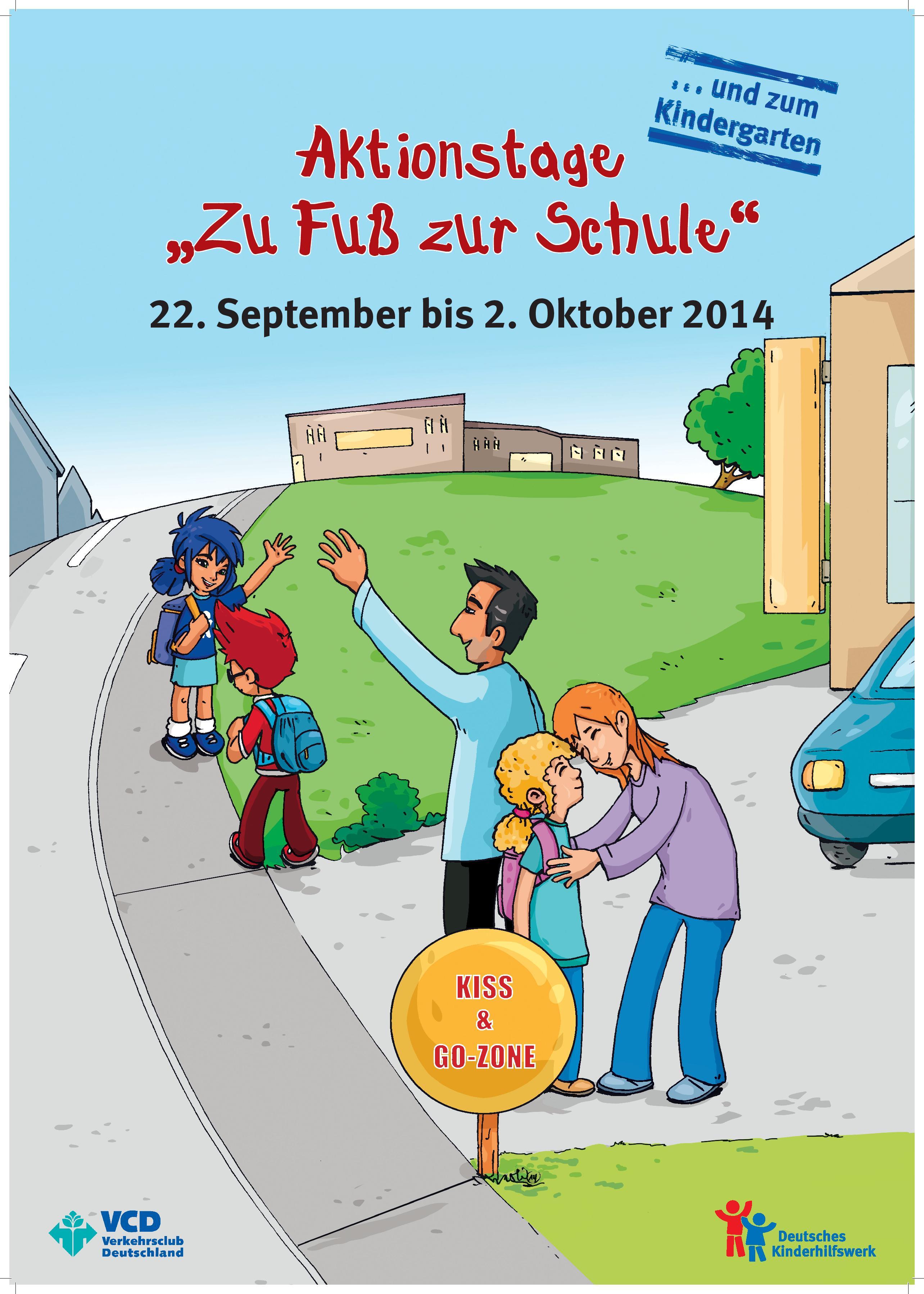 """""""zu Fuß Zur Schule"""" am 26"""